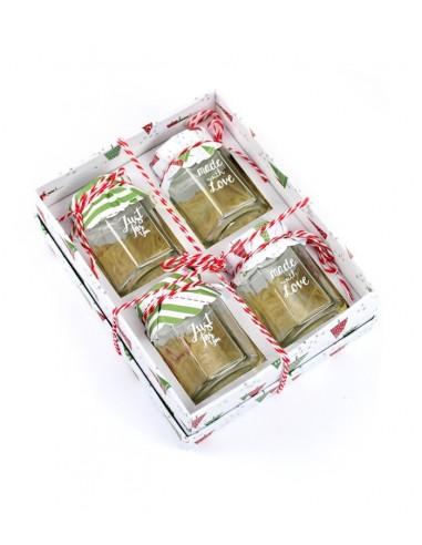 Vasi natalizi in scatola regalo