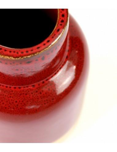 Vaso in ceramica M bicolor rosso e oro