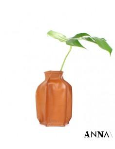 ANNA vaso in pelle naturale
